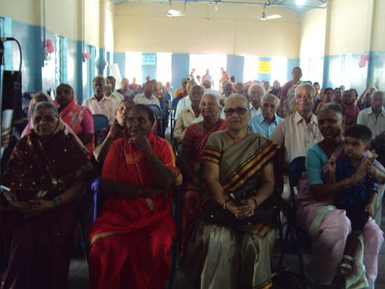 Senior citizens enjoying the gathering