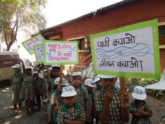Children Shouting-Save Trees, Save Water