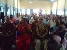 Senior citizens enjoying the gathering
